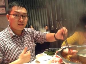 Chen at the hotpot spot.